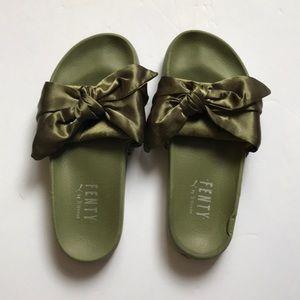 Fenty puma slides army green new